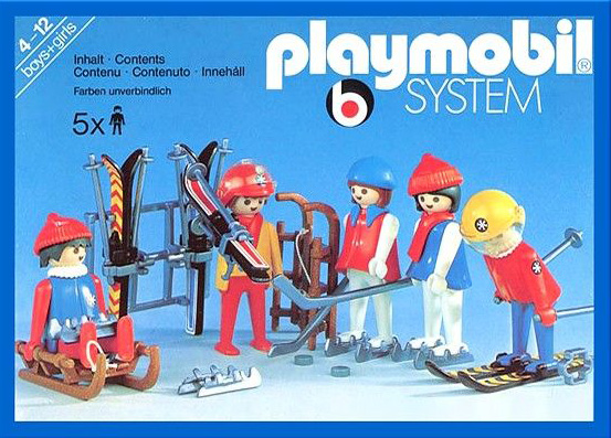 PLAYMOBIL retro lyžaři